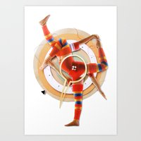 pivot Art Prints featuring Pivot | Collage by Lucid House