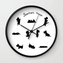 Scottie's Yoga Wall Clock