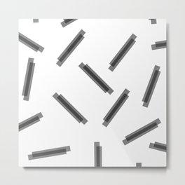 LINA ((black on white)) Metal Print