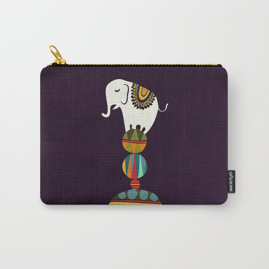 Elephant Circus Carry-All Pouch