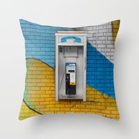 telephone Throw Pillows featuring Telephone by RMK Creative