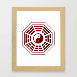 Yin Yang Red Bagua Framed Art Print