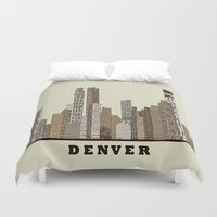 denver Duvet Covers featuring Denver by bri.buckley
