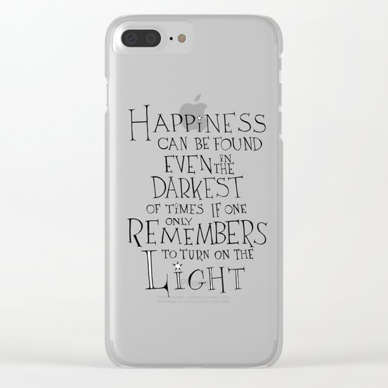 """Harry Potter - Albus Dumbledore quote """"Happiness"""" Clear iPhone Case"""