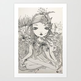 Into nature, we are one. Art Print