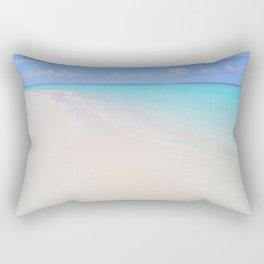 beach (Maldives White Sand Beach) Rectangular Pillow