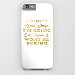 Bowie Quote - Gold Palette iPhone Case