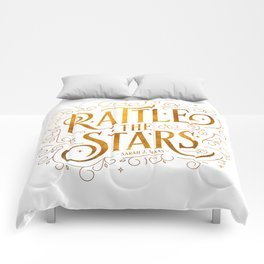Rattle the Stars - white Comforters