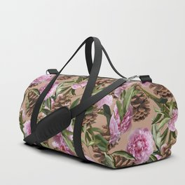 Pinecones and Peonies Duffle Bag
