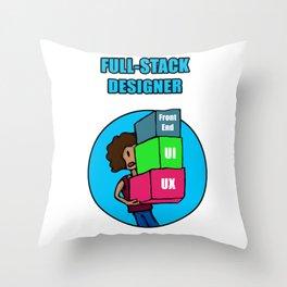 Full-Stack Designer Throw Pillow