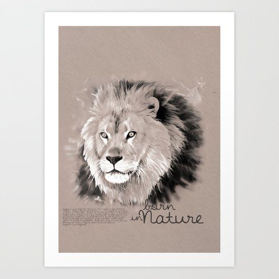 Lion (BornInNature) Art Print