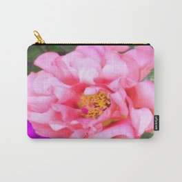 Flower | Flowers | Pink Portulaca Bloom Carry-All Pouch