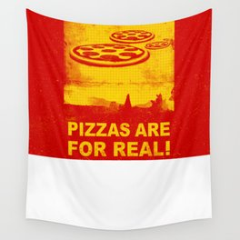 Pizzas are for real ! Fast flying pizzas  Wall Tapestry