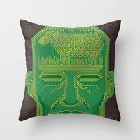 android Throw Pillows featuring Android Dreams by Doodle Dojo
