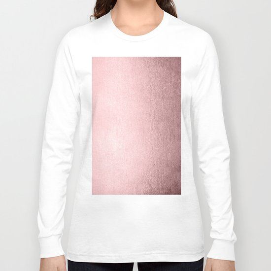 Simply Rose Quartz Elegance Long Sleeve T-shirt