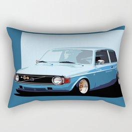 Old Classic Volvo Ilustration Rectangular Pillow