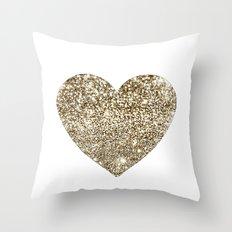 GOLD Heart-8 Throw Pillow