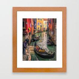 Gondolas at Sunset Framed Art Print