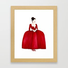 Outlander Claire Fraser Red Dress Not Obedient Quote Watercolor Framed Art Print