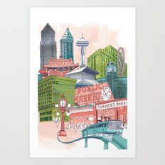 A Pleasant Day in Seattle Art Print
