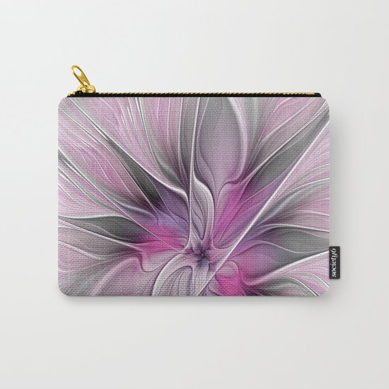 A Blooming Dream, Abstract Fractal Art Carry-All Pouch