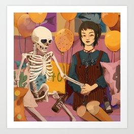 Casual Party Scene Art Print