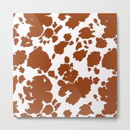 Classic Cow Pattern Metal Print
