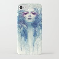 oil iPhone & iPod Cases featuring Oil by Anna Dittmann