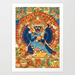 Tantric Buddhist Vajrabhairava Deity 1 Art Print