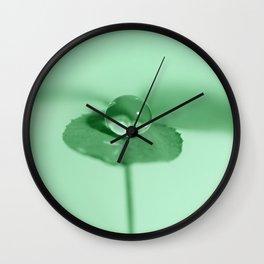 Clover dew drop Wall Clock