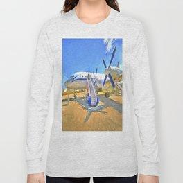 Pop Art Airliner Long Sleeve T-shirt
