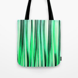 Turquoise Serenity Stripy Pattern Tote Bag