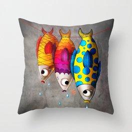 Fish Sale Throw Pillow