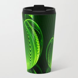 Lime lines in the glass balls. Travel Mug