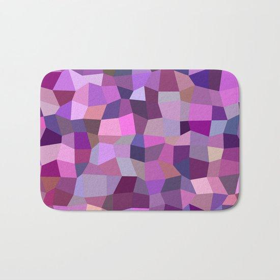Purplish tile mosaic Bath Mat