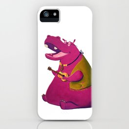 Hippie Hippo iPhone Case