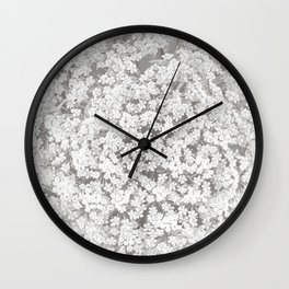 Queen Anne's Lace Flower in Soft Sepia Tones Wall Clock