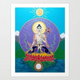 White Tara 3 Art Print