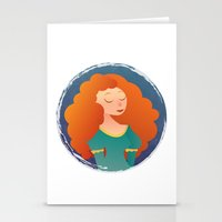 merida Stationery Cards featuring Merida by Chelli Reyes