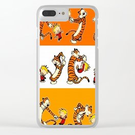 calvin and hobbes  t shirt Clear iPhone Case