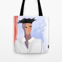 basquiat Tote Bags featuring Basquiat  by lindseybaker