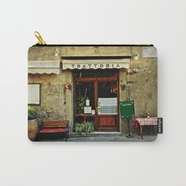 Entrance of old italian restaurant in Tuscany Carry-All Pouch