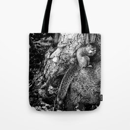 The Squirrel and the Tree King Tote Bag