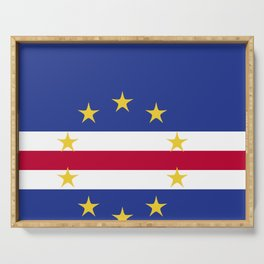 Cape Verde flag emblem Serving Tray