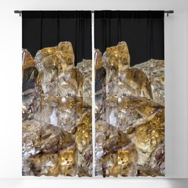 Citrine Crystals Blackout Curtain