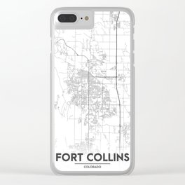 Minimal City Maps - Map Of Fort Collins, Colorado, United States Clear iPhone Case