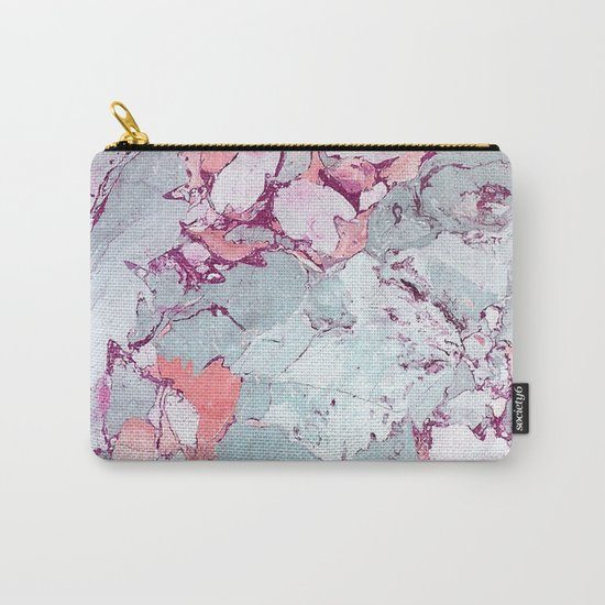 Marble Art V13 #society6 #pattern #decor #home #lifestyle Carry-All Pouch