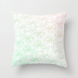 Glanzende Bloem Throw Pillow