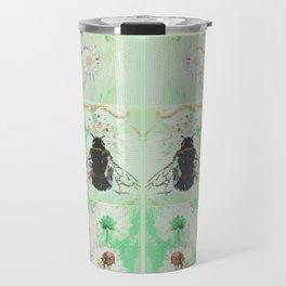 Bees and flowers Travel Mug