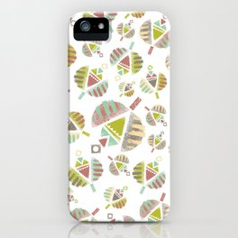 Abstract Retro Flowers iPhone Case